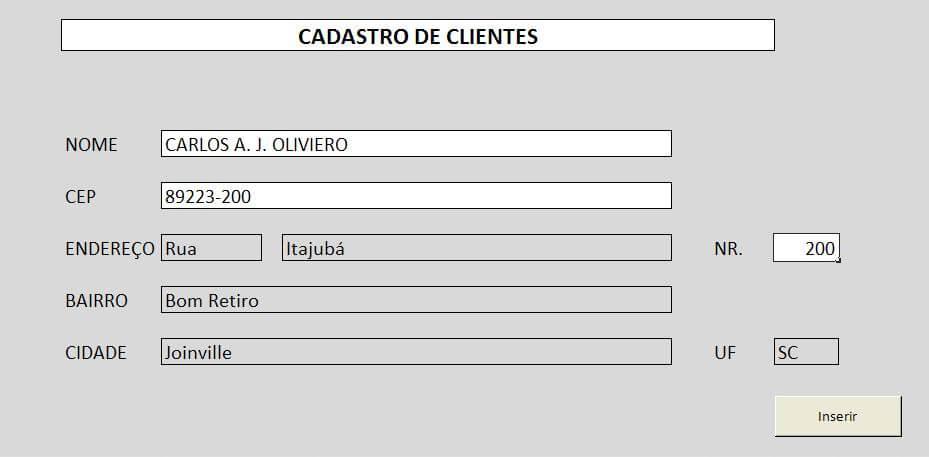 Cadastro de Clientes no Excel com VBA