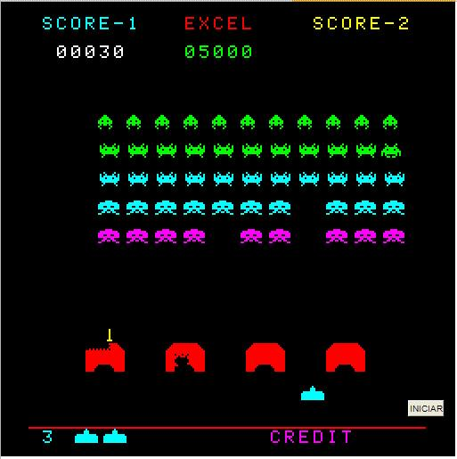 Space Invaders no Excel
