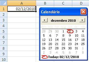 Calendário no Excel com VBA