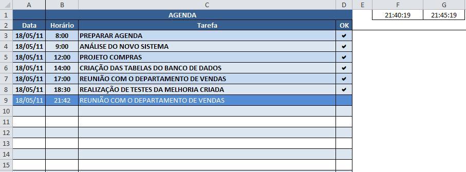 Agendar execução de processos no Excel (Schedule)