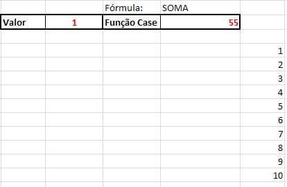 Função Case no Excel VBA