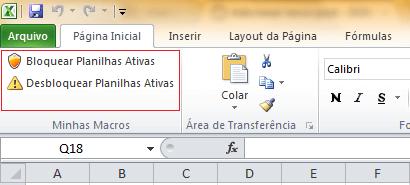 Criar botões de atalho para Macros e procedimento VBA Excel