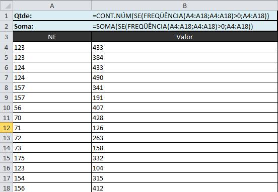 Contar Valores Distintos Excel, Somar Valores Distintos Excel