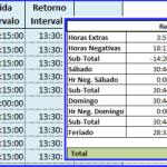 Controle de Hora Extra – Excel 2007/2010 – Planilha de hora extra 2.0