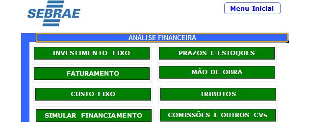 Plano de negócios Excel
