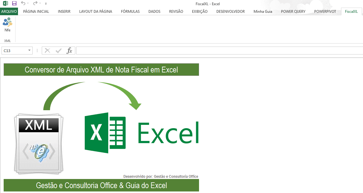 Planilha Importar NFe automaticamente Excel