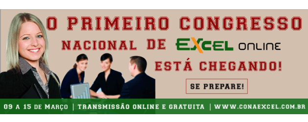 Congresso nacional de Excel Online - Inscreva-se
