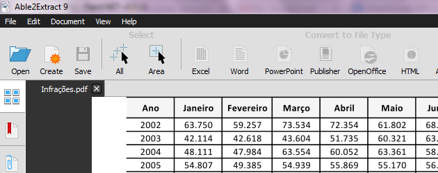 Converter PDF para Excel - Able2Extract 9 download