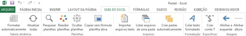 Customizar faixa de opções Guia do Excel 6