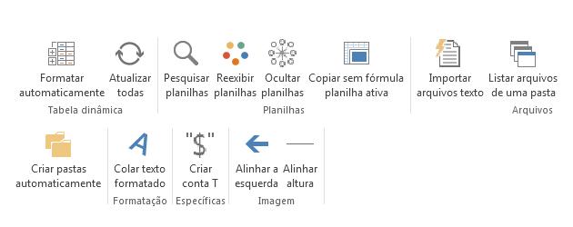 Faixa personalizada Guia do Excel
