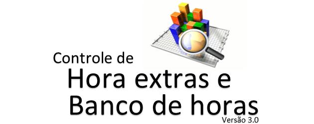 Hora extra e banco de horas Excel grátis