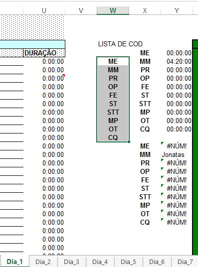 Excel Planilha de paradas de linha de produção 1