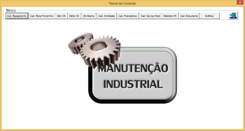 Planilha de Manutenção industrial Excel 2