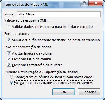 Planilha NF-e XML 5