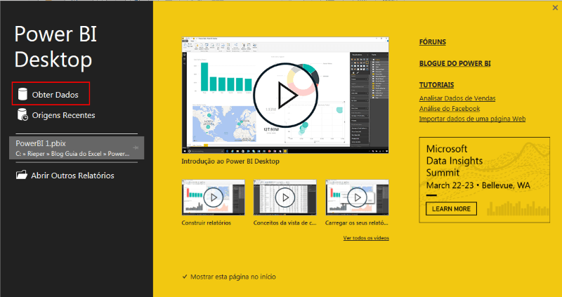 Instalar Power BI Desktop Excel