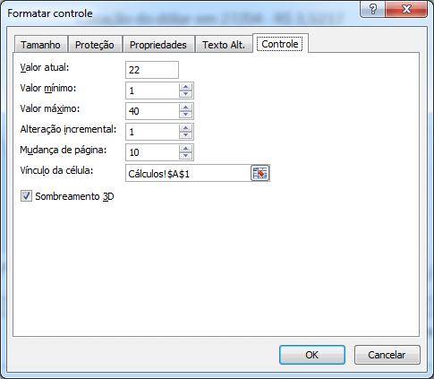 Formatar controle de barra de rolagem