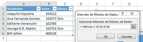 Gráfico Excel ajustado automaticamente e rótulos á partir de células 4
