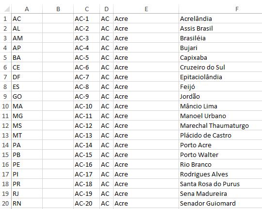 Validação de dados com lista variável e tamanho varíavel no Excel 2