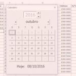 Calendário na célula Excel – VBA