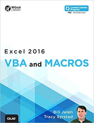 Livro VBA e Macros Excel 2016 - Bill Jellen